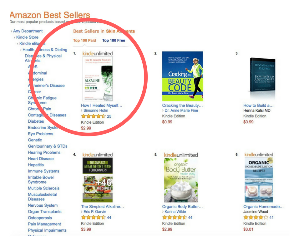 Simonne amazon best-seller